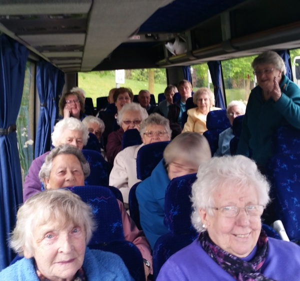 Happy ladies on a Cambridge Tours Coach trip